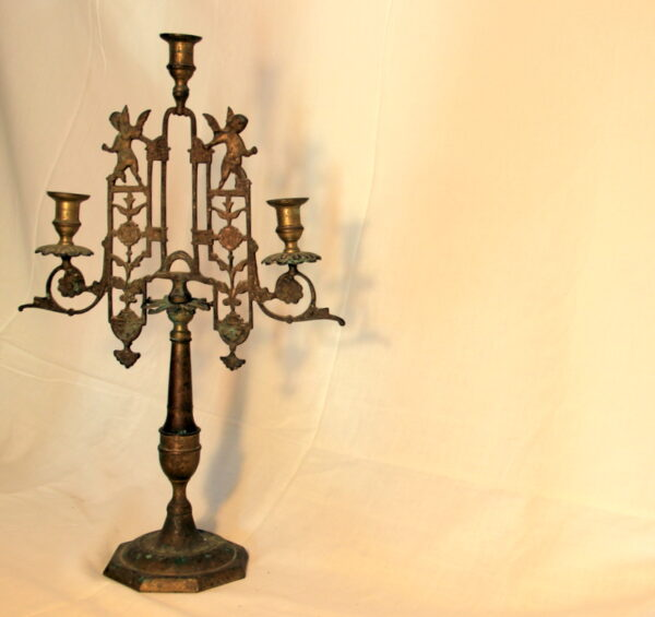 Antique large brass chandelier